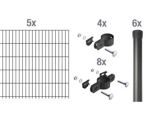 Set de base pour grillage à barre simple 1000 x 100 cm, anthracite