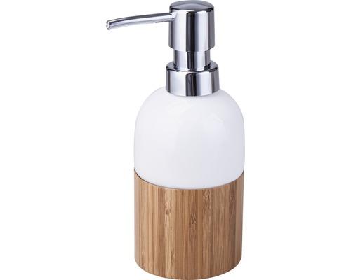 Distributeur à savon basano Curetta céramique avec bambou