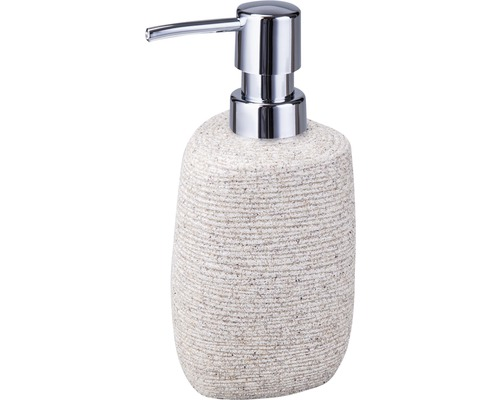 Distributeur à savon Form & Style triangle beige aspect pierre