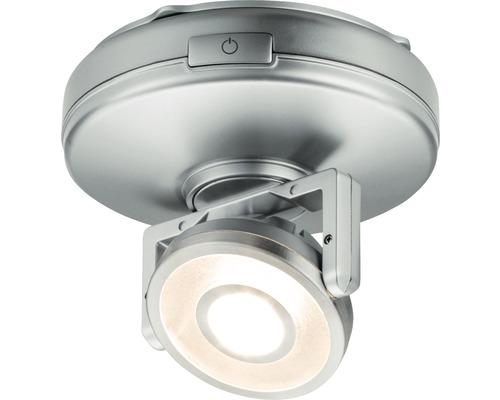 Éclairage d''armoire Rotate chrome/mat à intensité lumineuse variable avec 1 ampoule 66 lm 3000 K blanc chaud Ø 92 mm