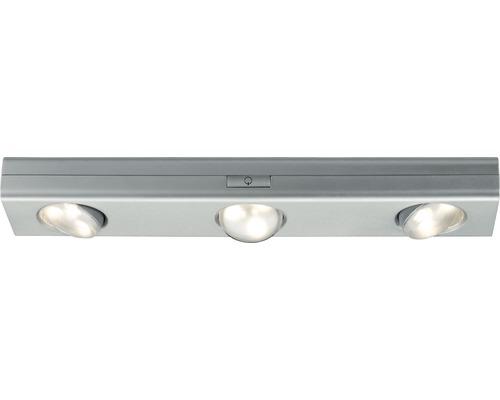 Éclairage d''armoire Jiggle chrome/mat à intensité lumineuse variable avec 3 ampoules 3x22 lm 3000 K blanc chaud B 300 mm-0