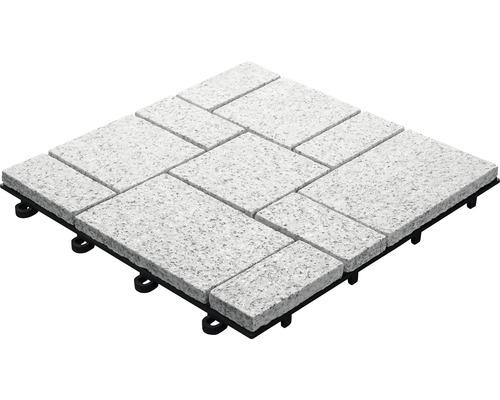 Dalle à clipser florco Granit Roma petite 30 x 30 cm gris-0