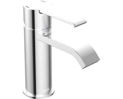 Mitigeur de lavabo AVITAL Fella chrome, mécanisme de vidage inclus-0