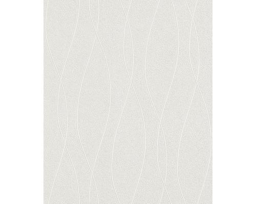Papier peint intissé 142501 Wallton Rayures blanc