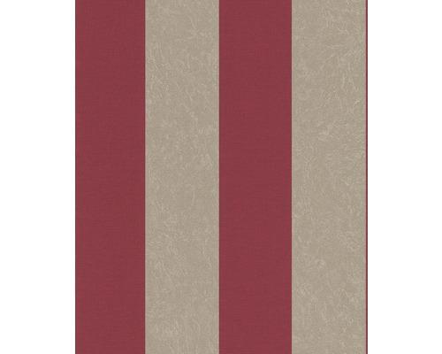 Papier Peint Intisse 441949 Belleville Rayures Rouge Gris Hornbach