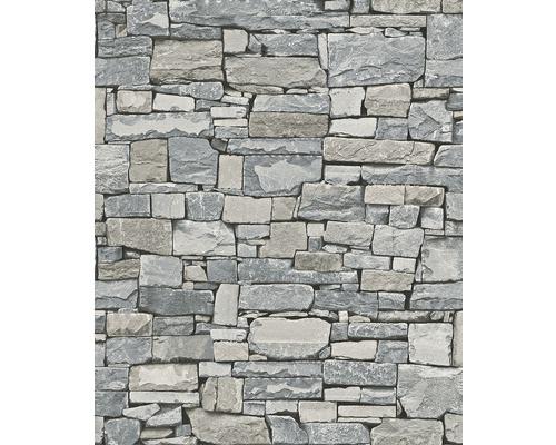 Papier peint intissé 859102 Modern Surfaces pierres gris-0