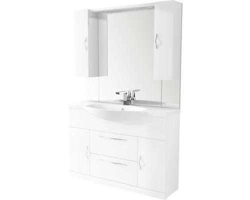 Ensemble de meubles de salle de bains BAHIA 120cm avec LED 190x50cm