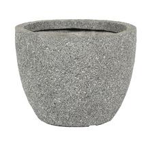 Pot de fleurs Atlanta, pierre artificielle, Ø37,5 H 30cm, gris-thumb-0