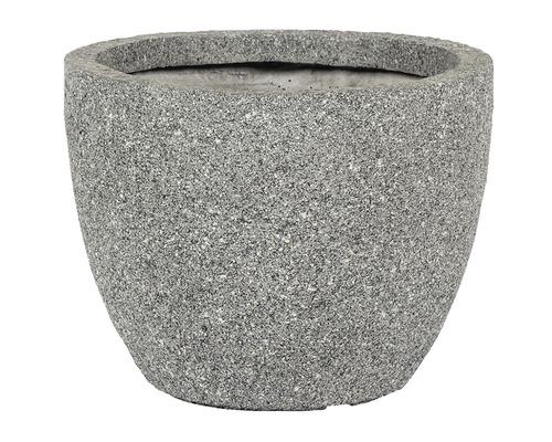 Pot de fleurs Atlanta, pierre artificielle, Ø37,5 H 30cm, gris-0