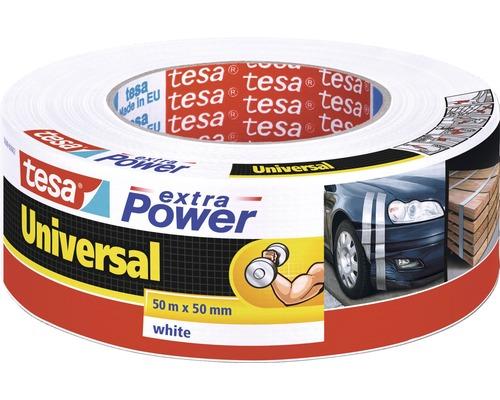 tesa extra Power Ruban de réparation universel blanc 50m x 50mm