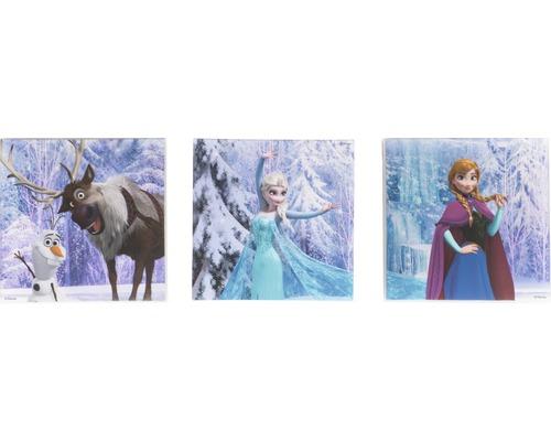 Tableau sur toile set de 3 Frozen Reine des neiges 3x 30x30 cm