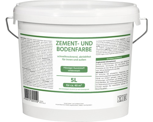 Peinture acrylique pour sol et ciment 5.0l