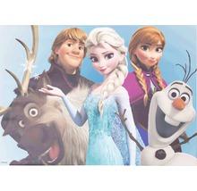Tableau sur toile Frozen Reine des neiges Group 50x70 cm-thumb-0