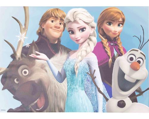 Tableau sur toile Frozen Reine des neiges Group 50x70 cm-0