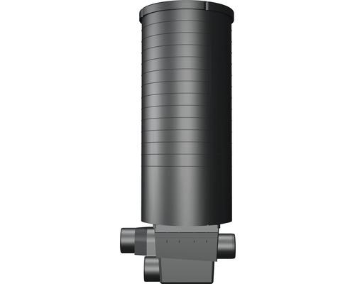 Filtre encastré avec un insert filtre et un puits de contrôle et de nettoyage