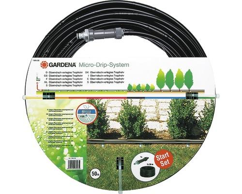 gardena tuyau goutte goutte de surface 13 mm 1 2 50 m avec centrale d 39 irrigation. Black Bedroom Furniture Sets. Home Design Ideas