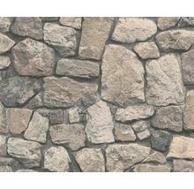 Papier peint intissé 8595-32 Wood´n & Stone pierre marron-thumb-0