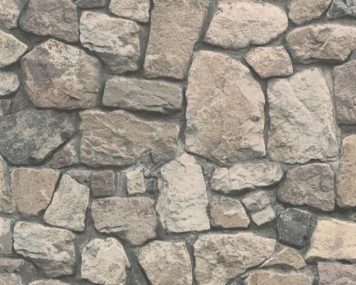 Papier peint intissé 8595-32 Wood´n & Stone pierre marron-0