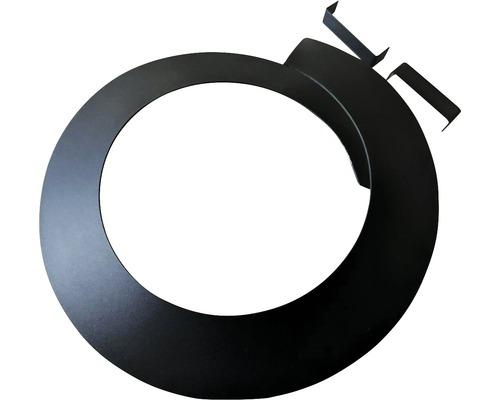verstellbare Rosette für Pellet DN 80 25 mm Randbreite schwarz