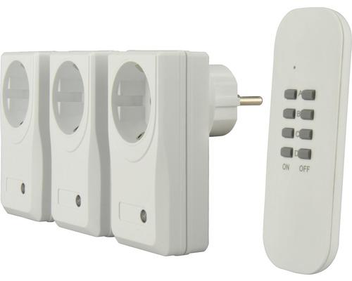 Interrupteur radio de commande à distance 3+1 Micro blanc