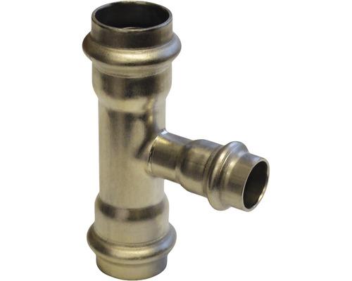 Raccord à compression Viega Sanpress pièce en T 18x15x18mm inox 435929