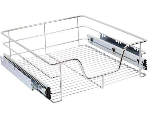Tiroir télescopique pour armoire de 60cm chromé