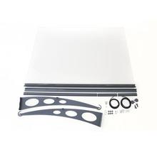 Auvent ARON Estenso 205,5x140 cm anthracite acrylique transparent-thumb-2