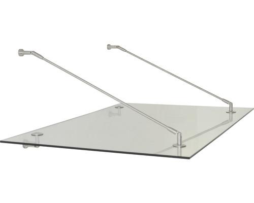 Auvent ARON Trasparo 150x90 cm verre de sécurité feuilleté transparent