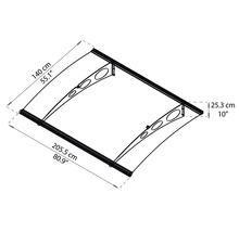 Auvent ARON Estenso 205,5x140 cm anthracite acrylique transparent-thumb-4