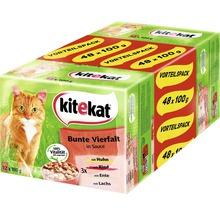 Nourriture humide pour chats, Kitekat variété multicolore 48x100g-thumb-0