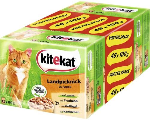 Nourriture humide pour chats, Kitekat Landpicknick 48 x 100g