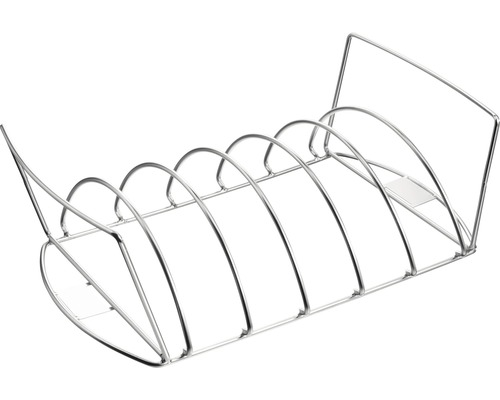Support pour rôti et côtelettes Tenneker® 43x22,5x12,5 cm acier inoxydable-0