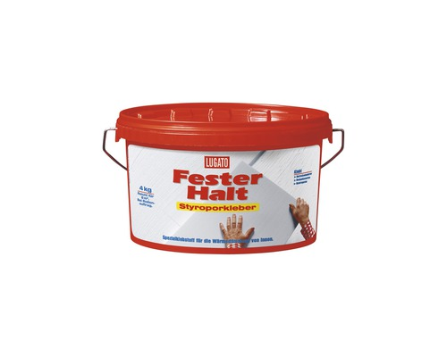 Dispersionskleber Lugato Fester Halt Styroporkleber 4 kg
