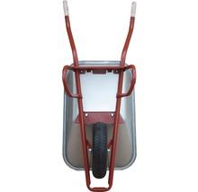 CAPITO Profi Tiefmuldenkarre EUROCAR 100 Liter Tiefmulde, Lufträder mit Blockprofil und Stahlfelge inkl. ergonomische Buchenholzgriffe-thumb-2