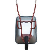 CAPITO Profi Bauschubkarre PRAKTICA 85 Liter Flachmulde, Lufträder mit Blockprofil und Stahlfelge inkl ergonomische Buchenholzgriffe-thumb-1