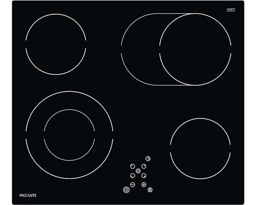 Plaque de cuisson vitrocéramique PICCANTE largeur 60 cm avec 4 zones de cuisson-0