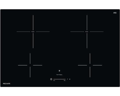 Plaque à induction PICCANTE largeur 80 cm avec 4 zones de cuisson