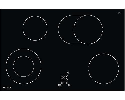 Plaque de cuisson vitrocéramique PICCANTE largeur 80 cm avec 4 zones de cuisson