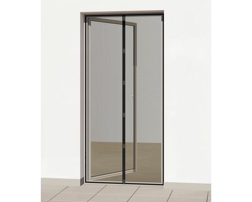 Rideau moustiquaire à aimant sans perçage anthracite 100x220 cm-0