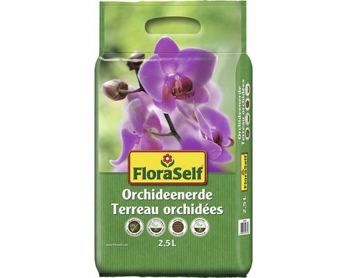FloraSelf ® Terreau pour orchidées 2.5 L