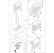 Table de rempotage bois de pin 76 x 37 x 102 cm-thumb-2