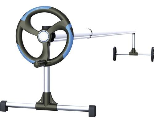 Dispositif d'enroulement et de déroulement pour bâche de piscine en alu 1,8-4,6 m
