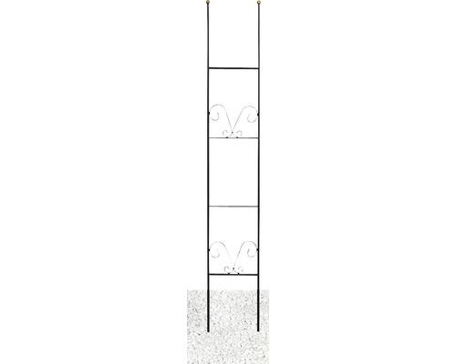Treillis décoratif Lydie acier h 150 cm noir-doré