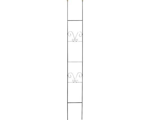 Treillis décoratif Lydie acier h 180 cm noir-doré