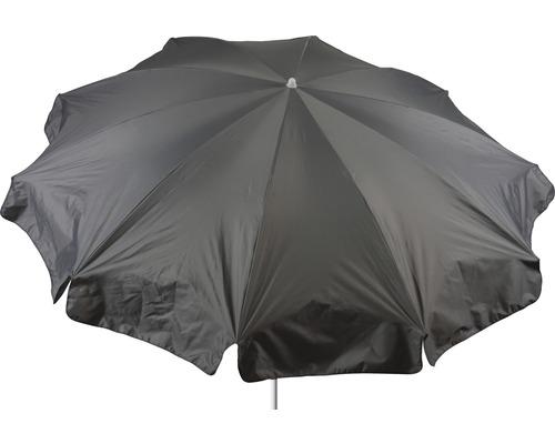 Parasol rond Ø 240cm, gris clair-0