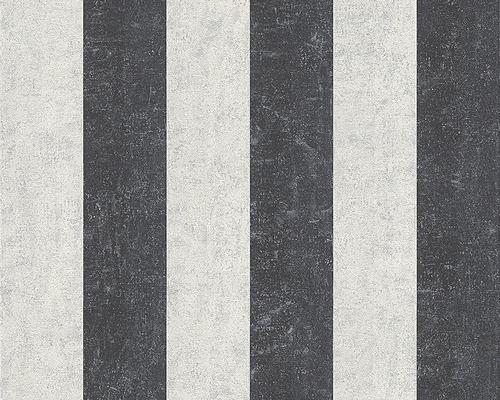 Papier peint intissé 96078-7 Rayures gris blanc cassé-0