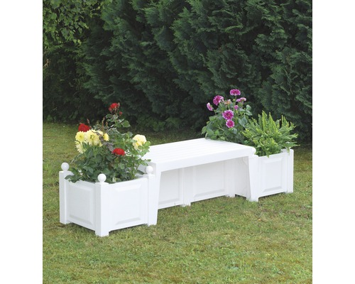 banc de jardin plastique blanc free banc jardin ensemble. Black Bedroom Furniture Sets. Home Design Ideas