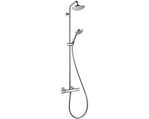 Duschsystem hansgrohe Croma Showerpipe 160 1jet 27135000 chrom mit Thermostat