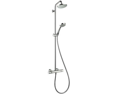Colonne de douche avec thermostat hansgrohe Croma Showerpipe 160 1jet chrome 27135000
