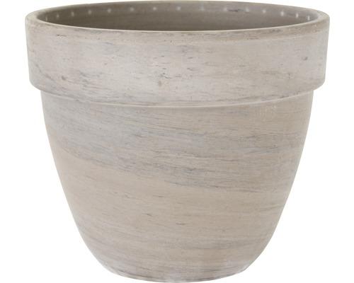 Pot de fleurs Spang Levante terre cuite Ø 19 H 16 cm anthracite